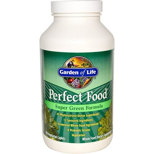 Garden of Life, Perfect Food, Super Green Formula, 300 Veggie Caplets Review