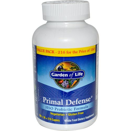 Garden of Life, Primal Defense, HSO Probiotic Formula, 216 Vegetarian Caplets Review