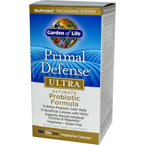 Garden of Life, Primal Defense, Ultra, Ultimate Probiotic Formula, 180 UltraZorbe Vegetarian Capsules Review