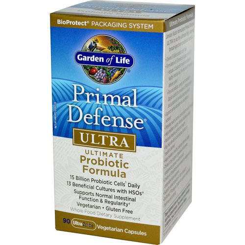 Garden of Life, Primal Defense, Ultra, Ultimate Probiotic Formula, 90 UltraZorbe Vegetarian Capsules Review