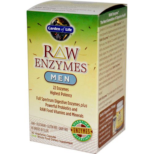 Garden of Life, RAW Enzymes, Men, 90 Veggie Caps Review
