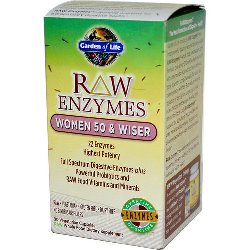 Garden of Life, RAW Enzymes, Women 50 & Wiser, 90 Veggie Caps Review