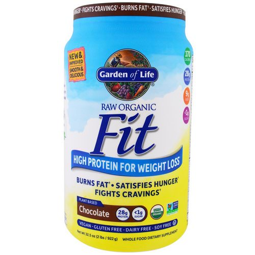 Garden of Life, Raw Organic Fit, High Protein For Weight Loss, Chocolate, 2 lbs (922 g) Review