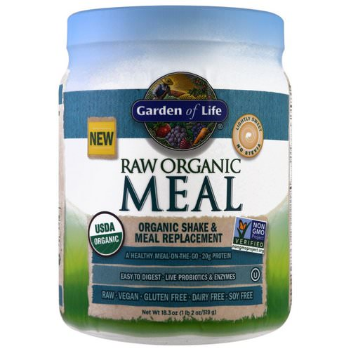 Garden of Life, RAW Organic Meal, Organic Shake & Meal Replacement, Lightly Sweet, 16 oz (454 g) Review