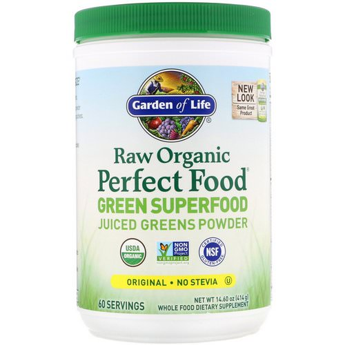 Garden of Life, Raw Organic Perfect Food, Green Superfood, Original, 14.8 oz (419 g) Review