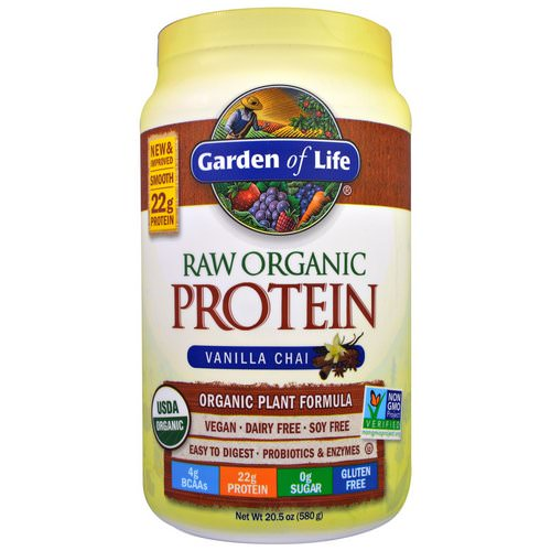 Garden of Life, RAW Organic Protein, Organic Plant Formula, Vanilla Chai, 1.3 lbs (580 g) Review