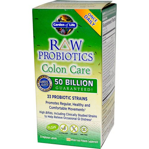 Garden of Life, RAW Probiotics, Colon Care, 30 Veggie Caps Review