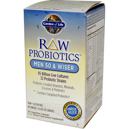 Garden of Life, RAW Probiotics, Men 50 & Wiser, 90 Veggie Caps Review