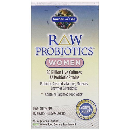 Garden of Life, RAW Probiotics, Women, 90 Vegetarian Capsules Review