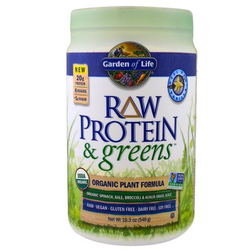 Garden of Life, Raw Protein & Greens, Organic Plant Formula, Real Raw Vanilla, 19.3 oz (548 g) Review