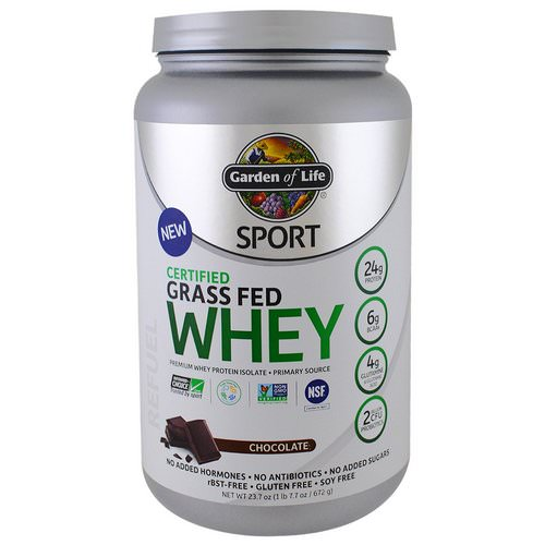 Garden of Life, Sport, Certified Grass Fed Whey, Chocolate, 1.48 lbs (672 g) Review