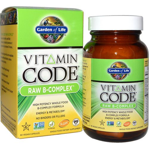 Garden of Life, Vitamin Code, Raw B-Complex, 60 Vegan Caps Review