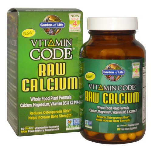 Garden of Life, Vitamin Code, Raw Calcium, 60 UltraZorbe Vegetarian Capsules Review