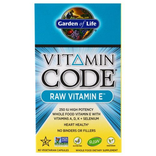 Garden of Life, Vitamin Code, Raw Vitamin E, 60 Veggie Caps Review