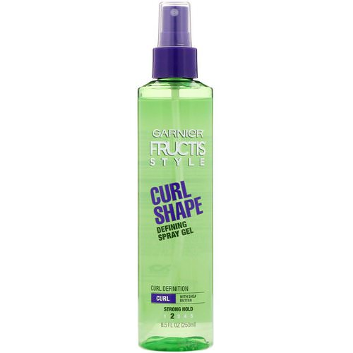 Garnier, Fructis, Curl Shape, Defining Spray Gel, 8.5 fl oz (250 ml) Review