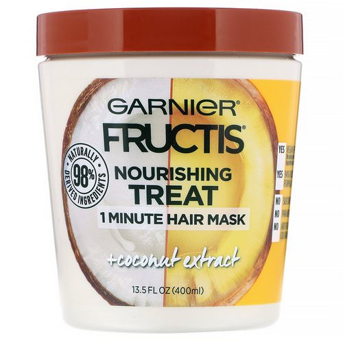 Garnier, Fructis, Nourishing Treat, 1 Minute Hair Mask, + Coconut Extract, 13.5 fl oz (400 ml) Review