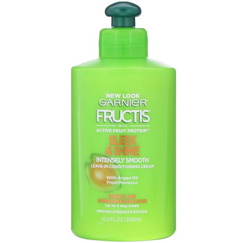Garnier, Fructis, Sleek & Shine, Intensely Smooth Leave-In Conditioning Cream, 10.2 fl oz (300 ml) Review