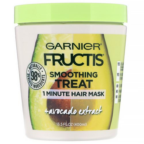 Garnier, Fructis, Smoothing Treat, 1 Minute Hair Mask + Avocado Extract, 13.5 fl oz (400 ml) Review