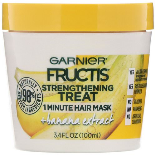 Garnier, Fructis, Strengthening Treat, 1 Minute Hair Mask, + Banana Extract, 3.4 fl oz (100 ml) Review
