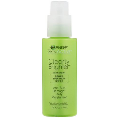 Garnier, SkinActive, Clearly Brighter, Anti-Sun Damage Daily Moisturizer, SPF 30, 2.5 fl oz (75 ml) Review