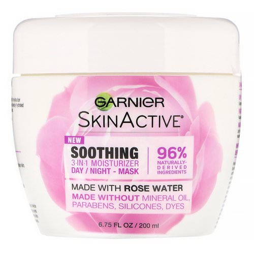 Garnier, SkinActive, Soothing 3-in-1 Moisturizer with Rose Water, 6.75 fl oz (200 ml) Review