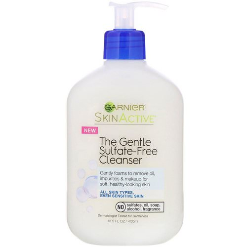 Garnier, SkinActive, The Gentle Sulfate-Free Cleanser, 13.5 oz (400 ml) Review