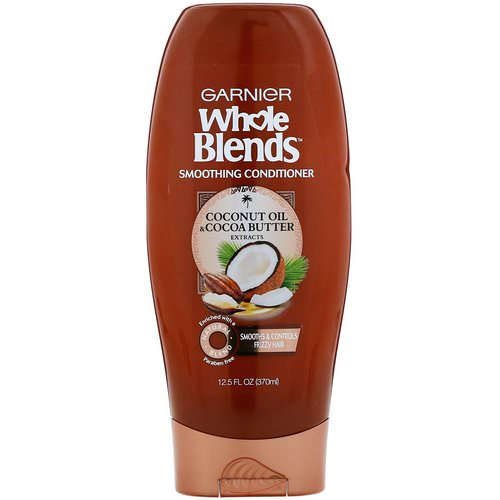 Garnier, Whole Blends, Coconut Oil & Cocoa Butter Smoothing Conditioner, 12.5 fl oz (370 ml) Review