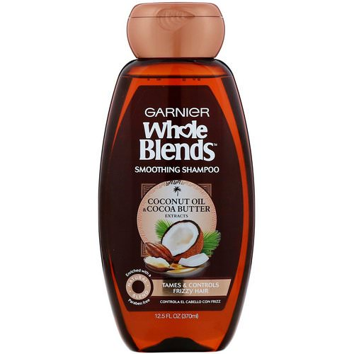 Garnier, Whole Blends, Coconut Oil & Cocoa Butter Smoothing Shampoo, 12.5 fl oz (370 ml) Review