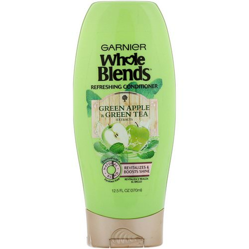 Garnier, Whole Blends, Green Apple & Green Tea Refreshing Conditioner, 12.5 fl oz (370 ml) Review