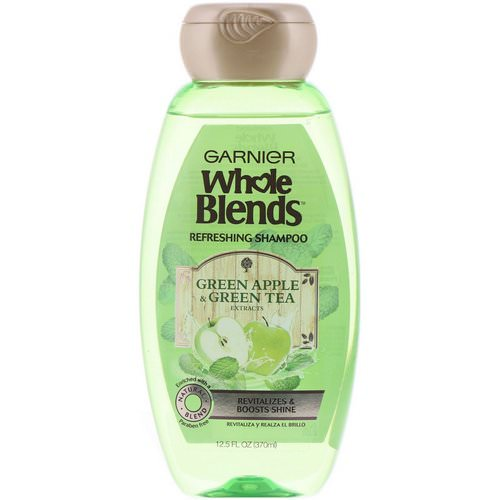 Garnier, Whole Blends, Refreshing Shampoo, Green Apple & Green Tea Extracts, 12.5 fl oz (370 ml) Review