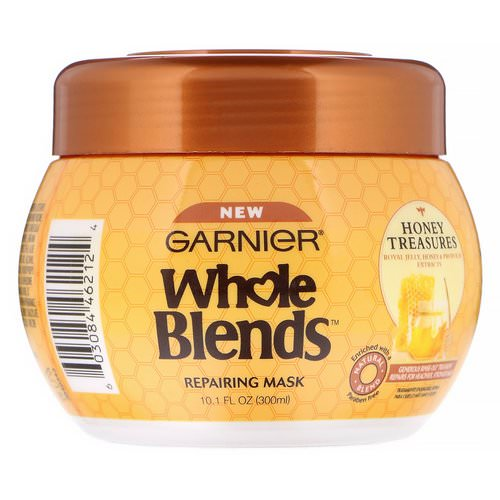 Garnier, Whole Blends, Repairing Mask, Honey Treasures, 10.1 fl oz (300 ml) Review