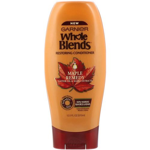 Garnier, Whole Blends, Restoring Conditioner, Maple Remedy, 12.5 fl oz (370 ml) Review
