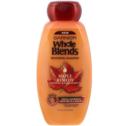 Garnier, Whole Blends, Restoring Shampoo, Maple Remedy, 12.5 fl oz (370 ml) Review