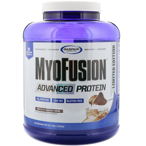 Gaspari Nutrition, MyoFusion, Advanced Protein, Chocolate Hazelnut Creme, 4 lbs (1814 g) Review