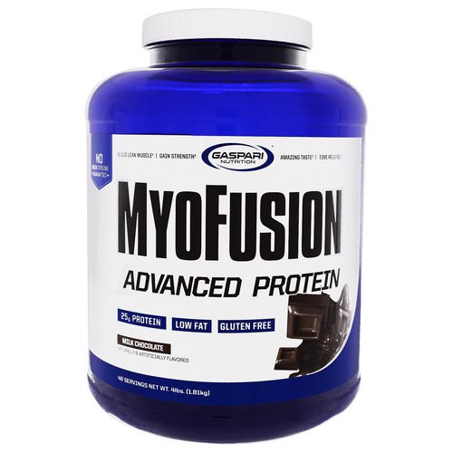Gaspari Nutrition, MyoFusion, Advanced Protein, Milk Chocolate, 4 lbs (1.81 kg) Review