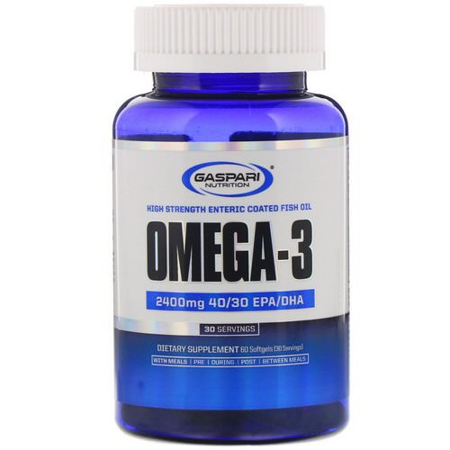 Gaspari Nutrition, Omega-3, 2,400 mg, 60 Softgels Review