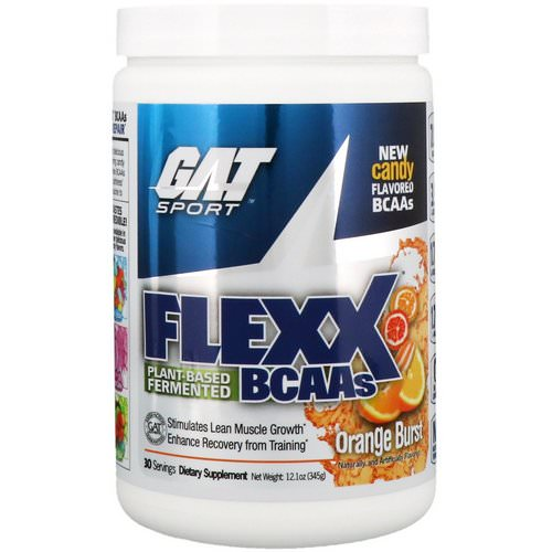 GAT, Flexx BCAAs, Orange Burst, 12.1 oz (345 g) Review