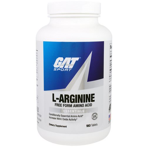 GAT, L-Arginine, 180 Tablets Review