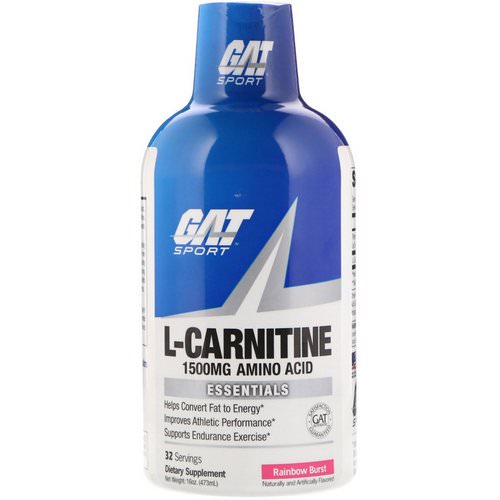 GAT, L-Carnitine, Amino Acid, Rainbow Burst, 1500 mg, 16 oz (473 ml) Review