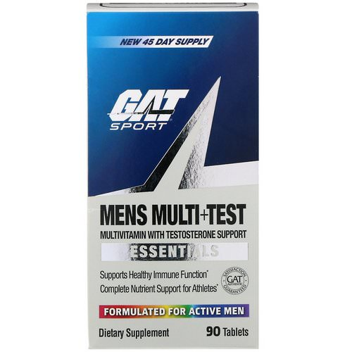 GAT, Men's Multi+Test, Multivitamin with Testosterone Support, 90 Tablets Review