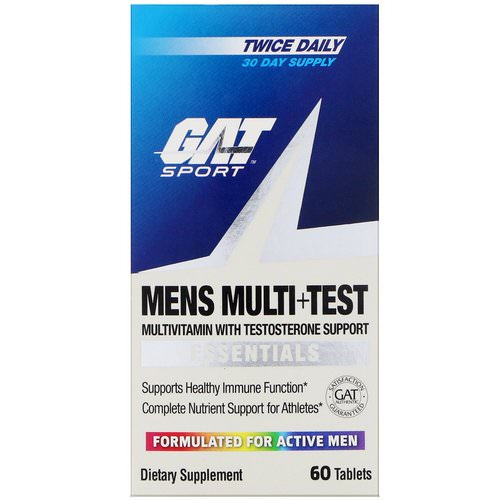 GAT, Mens Multi + Test, 60 Tablets Review