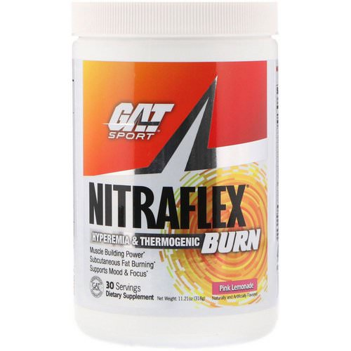 GAT, Nitraflex Burn, Pink Lemonade, 11.21 oz (318 g) Review