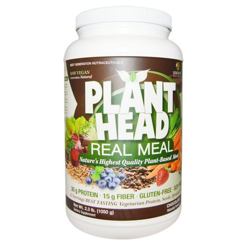 Genceutic Naturals, Plant Head, Real Meal, Chocolate, 2.3 lb (1050 g) Review