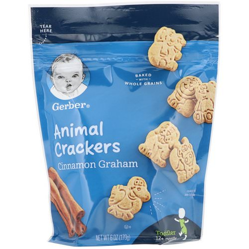 Gerber, Animal Crackers, Cinnamon Graham, Toddler, 12+ Months, 6 oz (170 g) Review
