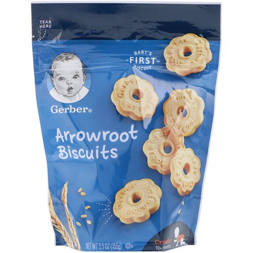 Gerber, Arrowroot Biscuits, Crawler, 10+ Months, 5.5 oz (155 g) Review