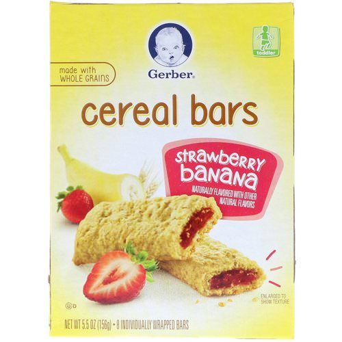 Gerber, Cereal Bars, Strawberry Banana, Toddler, 8 Bars, 5.5 oz (156 g) Review