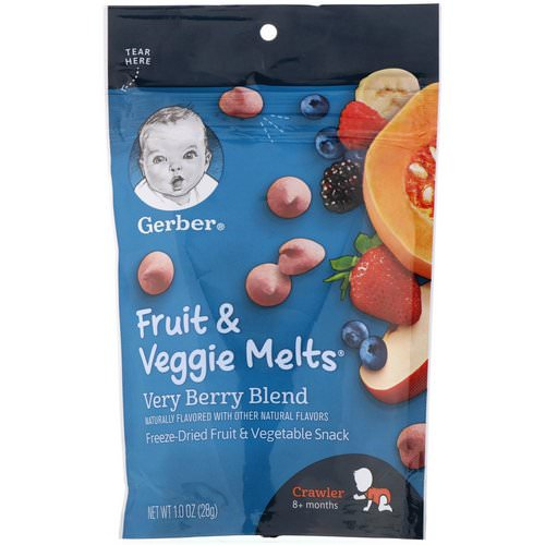Gerber, Fruit & Veggie Melts, Very Berry Blend, Crawler 8+ Months, 1.0 oz (28 g) Review