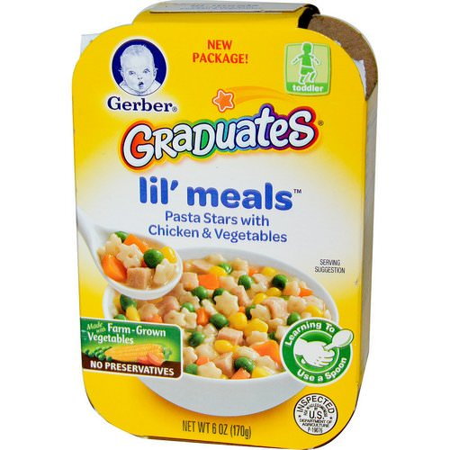Gerber, Graduates for Toddlers, Lil' Meals, Pasta Stars with Chicken & Vegetables, 6 oz (170 g) Review