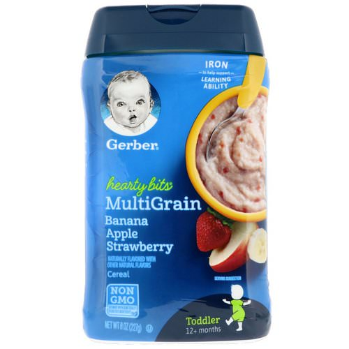 Gerber, Hearty Bits, MultiGrain Cereal, Toddler, 12+ Months, Banana, Apple, Strawberry, 8 oz (227 g) Review