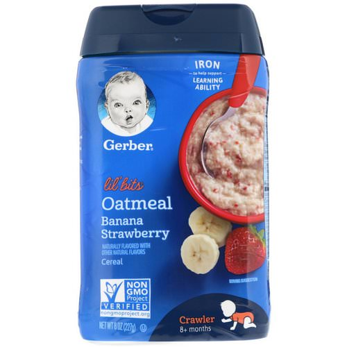 Gerber, Lil' Bits, Oatmeal Cereal, Crawler, 8+ Months, Banana Strawberry, 8 oz (227 g) Review